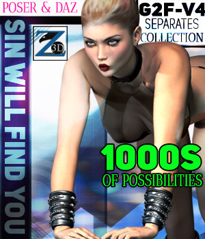 Z Sin Will Find You - Separates Collection - V4-G2F/V6 3D Figure Essentials Zeddicuss