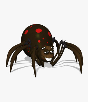 Grimtoon Spider 3D Models Grimpopo
