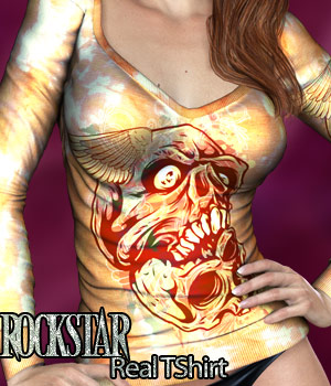 Rockstar - Real T Shirt 3D Figure Essentials kaleya