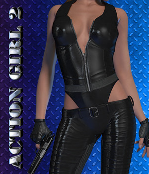 Exnem Action Girl 2 3D Figure Assets exnem