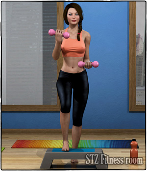STZ Fitness room 3D Models santuziy78