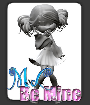 Madi's Line Be Mine for Cookie 3D Figure Essentials kittystavern