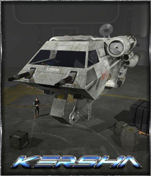 Kersha Spacecraft 3D Models 3-d-c