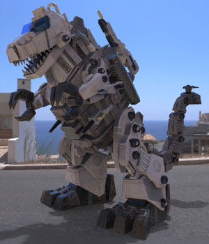 TyranoBot (for Poser) 3D Models VanishingPoint