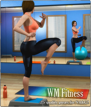 WM_Fitness - poses for V4 & G2 3D Figure Essentials Software santuziy78