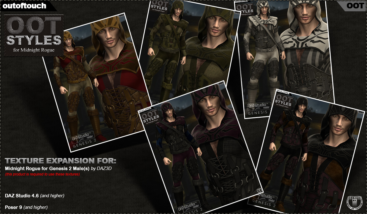 OOT Styles for Midnight Rogue for Genesis 2 Male(s) by outoftouch