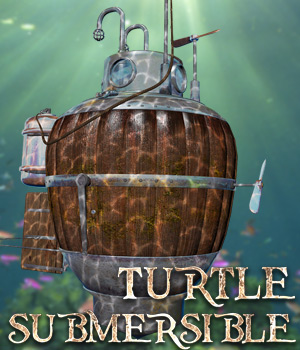 Turtle Submersible Gaming 3D Models Cybertenko