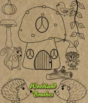 FB Woodland Photoshop CC Brushes Merchant Resources 2D fictionalbookshelf