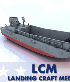 LCM (3) - Landing Craft, Medium Mark 3 3D Models AliceFromLake