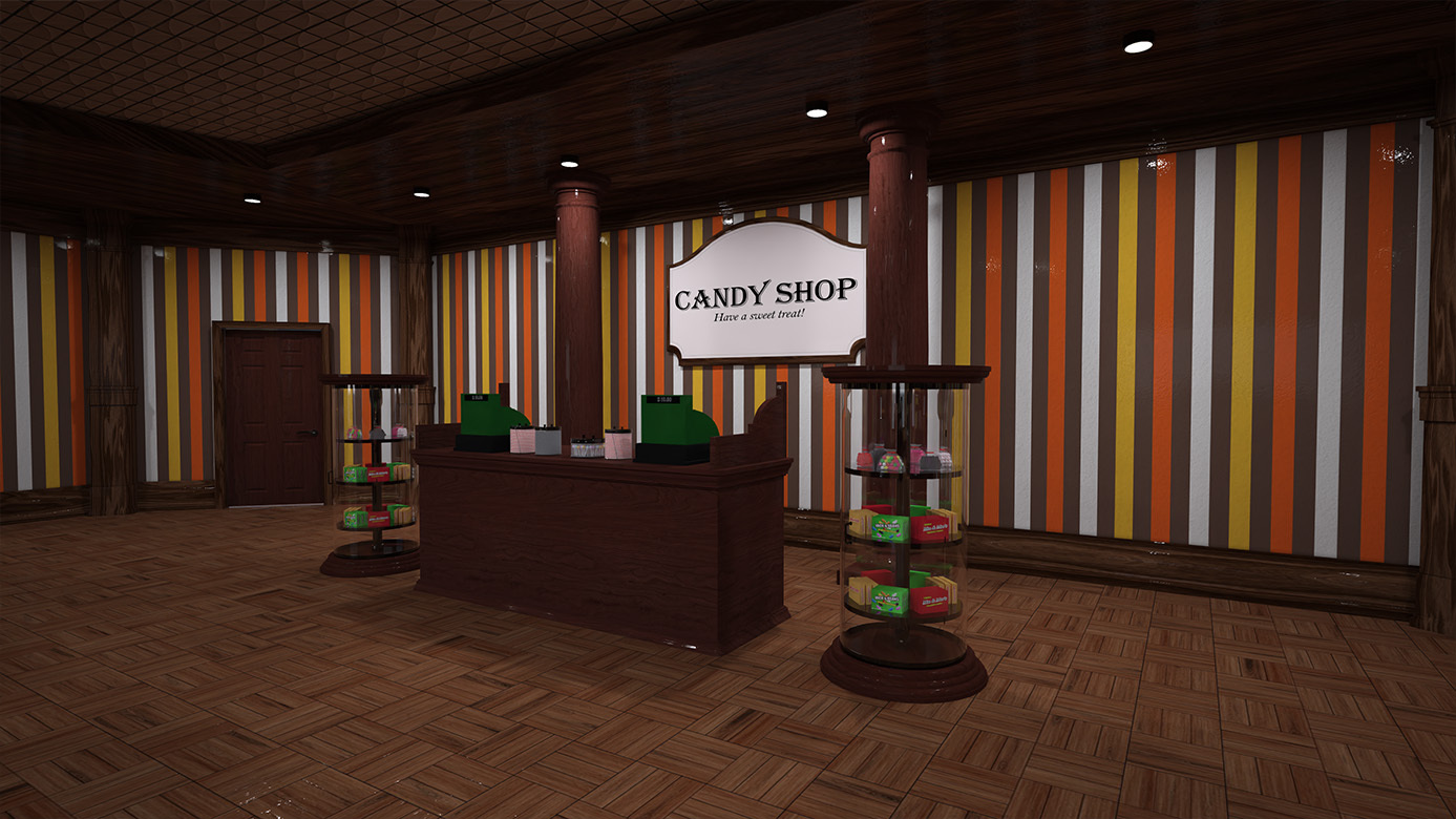 Candy Store Interior by RPublishing