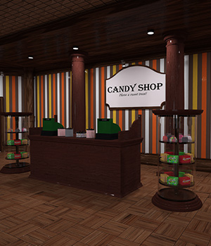 Candy Store Interior 3D Models RPublishing