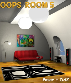 Oops Room5 - Extended License Gaming 3D Models greenpots