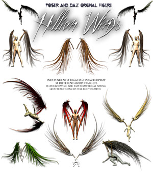 Hellion Wings 3D Figure Assets 3D Models Poisen