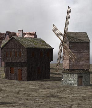 Medieval Village (for Poser) 3D Models VanishingPoint