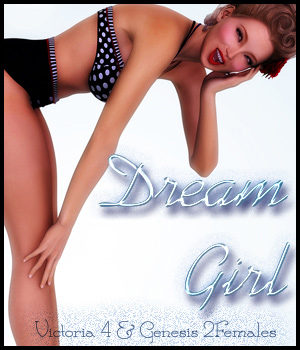 Dream Girl for V4 & G2F 3D Figure Assets -dragonfly3d-