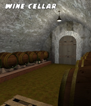 Cellar wine - Extended License 3D Models Gaming greenpots