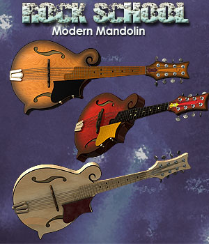 Rock School Modern Mandolin by Simon-3D
