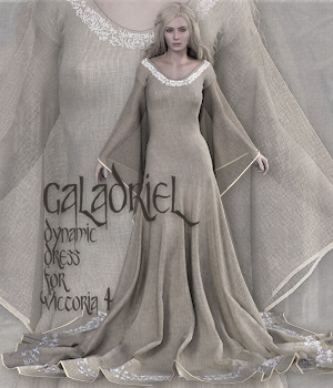 Galadriel for V4 3D Figure Assets Tipol