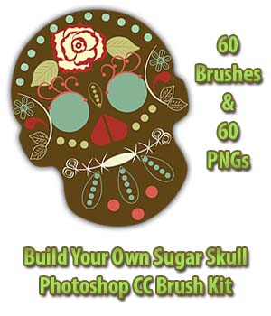 FB Sugar Skull Brush Kit 2D Graphics Merchant Resources fictionalbookshelf