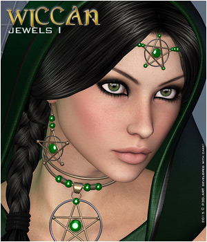 Wiccan  Jewels I 3D Figure Essentials 3D Models P3D-Art