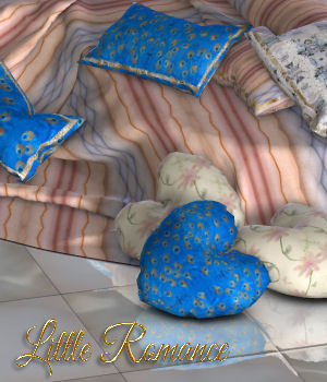 DA-Little Romance for Big Bed 3D Figure Assets DarkAngelGrafics