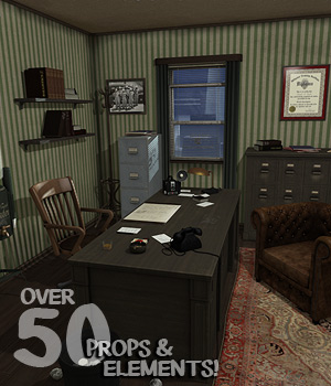 Private Investigators Office 3D Models coflek-gnorg