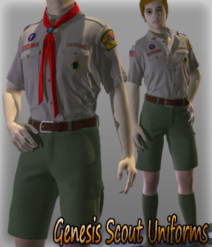 Genesis Scout Uniforms 3D Figure Essentials kang1hyun