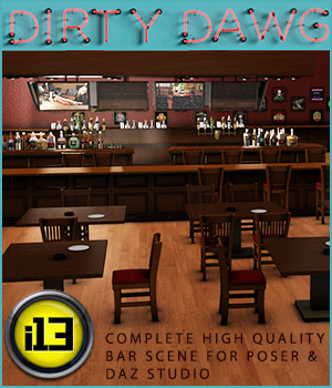 i13 Dirty Dawg BAR 3D Models Lights and Cameras ironman13