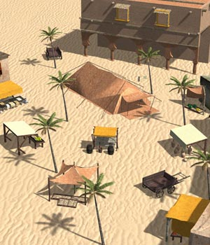 Middle East Market (for Poser) 3D Models VanishingPoint