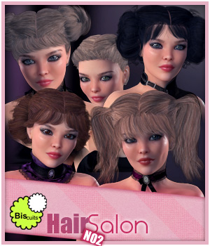 Biscuits Hair Salon NO2 3D Figure Assets Biscuits