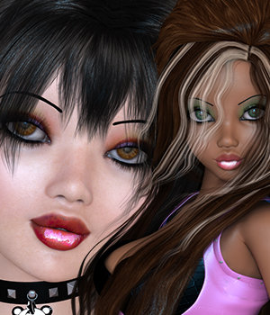 Dollz Anniversary Tosha & Kichi Bundle 3D Figure Essentials 3DSublimeProductions