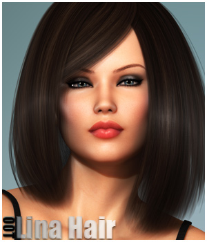 Lina Hair and OOT Hairblending 3D Figure Assets outoftouch