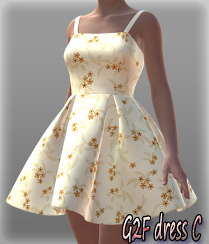 G2F dress C 3D Figure Essentials kang1hyun