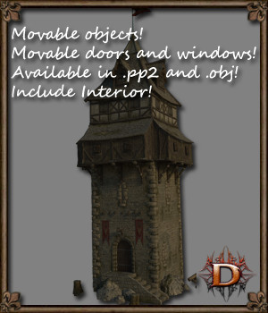 Medieval Tower V1 3D Models Dante78