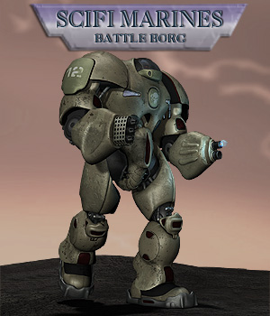Scifi Marine Battle Borg  Simon-3D