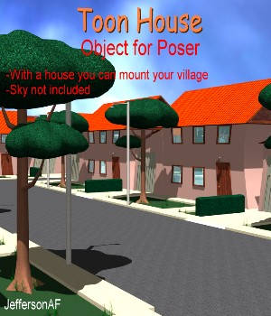 Toon House Poser 3D Models JeffersonAF