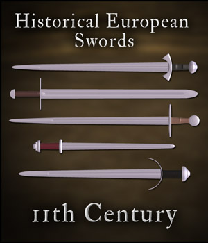 Historical European Swords: 11th Century - Extended License 3D Models Gaming Extended Licenses gmm2