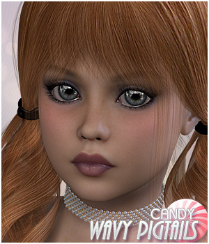 Candy Wavy Pigtails 3D Figure Essentials Sveva