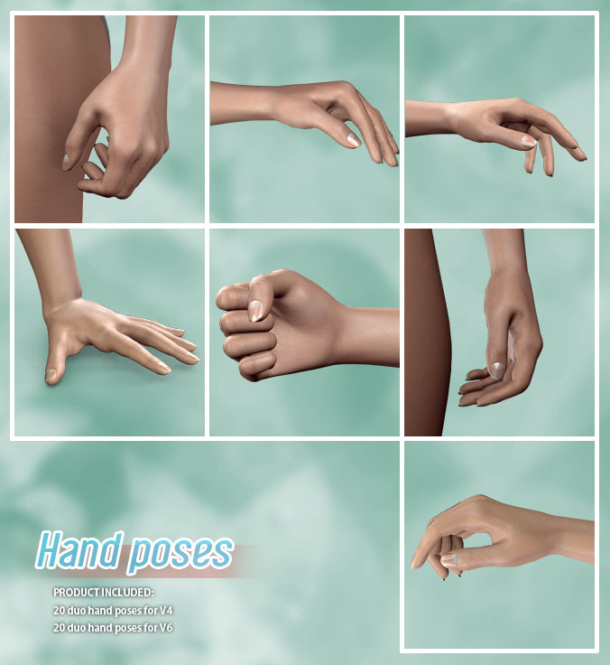 Hand Poses by halcyone