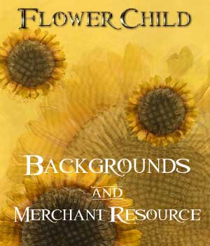 Flower Child - Backgrounds and Merchant Resource 2D Merchant Resources ellearden