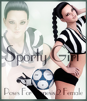Sporty Girl Genesis 2 Female 3D Figure Essentials -dragonfly3d-