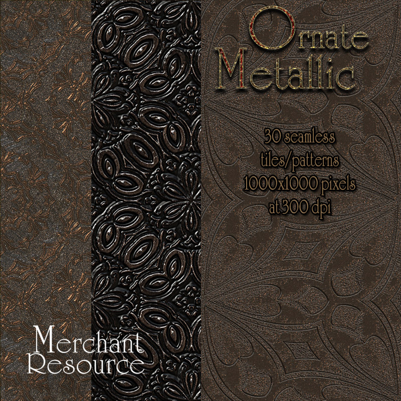 Merchant Resource - Ornate Metallic Patterns