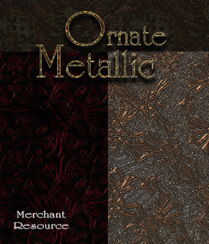 Merchant Resource - Ornate Metallic Patterns 2D Graphics Merchant Resources antje