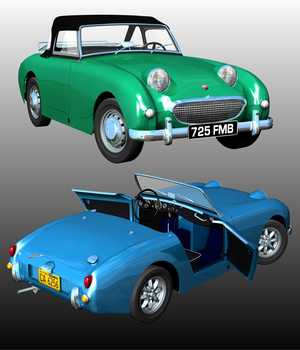 AUSTIN HEALEY SPRITE FROGEYE 1958 3D Models Nationale7