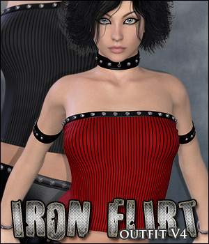Iron Flirt - V4 Outfit 3D Figure Essentials P3D-Art