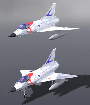 Mirage IIIC (for Poser) 3D Models Digimation_ModelBank