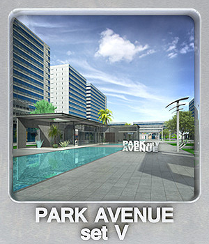 Park Avenue set V 3D Models whitemagus