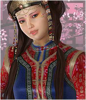 Mongolian Beauty Textures 3D Figure Essentials ShoxDesign