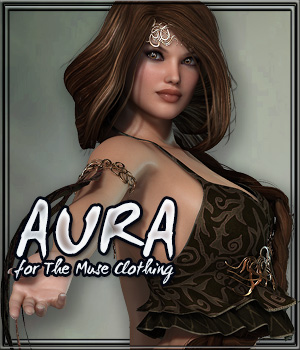 AURA for The Muse Clothing 3D Figure Essentials Gaming Anagord