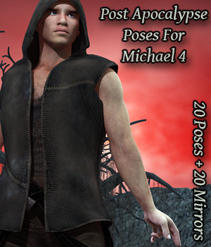 FB Post Apocalypse Poses For M4 3D Figure Essentials fictionalbookshelf